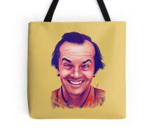Smiling young Jack Nicholson digital painting Tote Bag