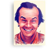 Smiling young Jack Nicholson digital painting Metal Print