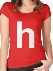 white h Women's Fitted Scoop T-Shirt
