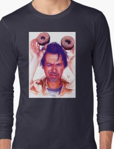 Steve Buscemi and donuts digital painting Long Sleeve T-Shirt