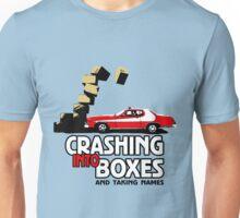 Crashing Into Boxes and Taking Names Unisex T-Shirt
