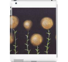 Gold dandelions iPad Case/Skin