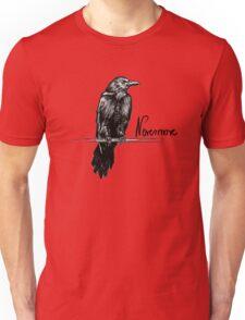 Nevermore raven - Edgar Allan Poe illustration Unisex T-Shirt