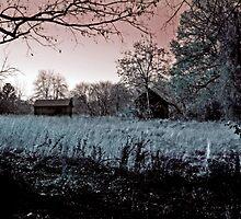 Haunted Farm...Happy Halloween by Eileen McVey