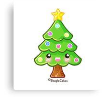 Kawaii Christmas Tree Canvas Print