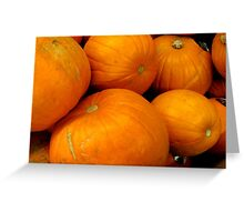 ORANGE PUMPKINS Greeting Card