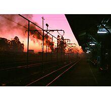 6am at Hampi Train Station Photographic Print