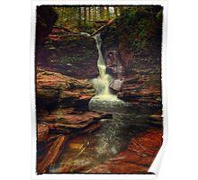 Adams Falls (version I) Oct 2011 Poster