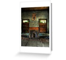 Old Living Room Greeting Card
