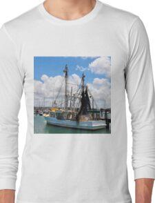 Moored Fishing Boat Long Sleeve T-Shirt
