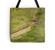 Spotted Sandpiper on the Kinnickinnic River Tote Bag