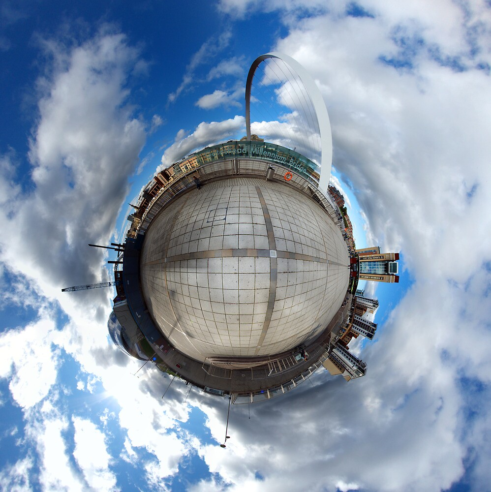 Gateshead Quayside Stereographic Projection  by Philip  Whittaker