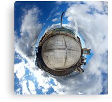 Gateshead Quayside Stereographic Projection  Canvas Print