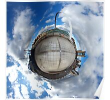 Gateshead Quayside Stereographic Projection  Poster