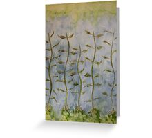 The Dancing Cabbage Weeds Greeting Card