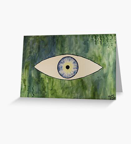 Sea Monster Eye Greeting Card