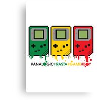 Analogic Rasta Game Boy Canvas Print