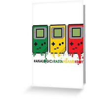 Analogic Rasta Game Boy Greeting Card