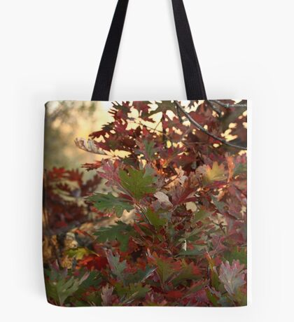 Red and Green Fall Leaves II Tote Bag