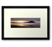 Sunrise at St Michael's Mount, Cornwall Framed Print
