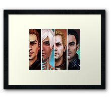 bioware boys  Framed Print