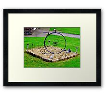 Minature Penny-Farthing Framed Print