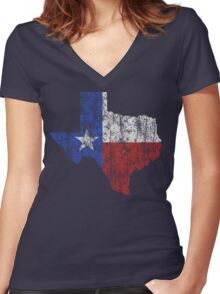 Texas Vintage Women's Fitted V-Neck T-Shirt