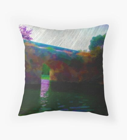 Bridge over troubled water Throw Pillow
