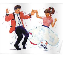 Classic Rock and Roll Jive Dancers Poster