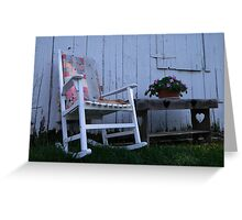 country relaxation Greeting Card