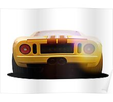 illustration of a classic GT 40 Poster
