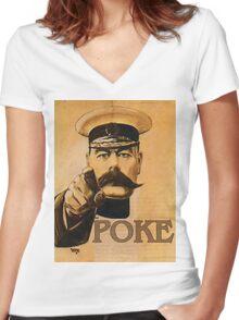 Poker GB Women's Fitted V-Neck T-Shirt