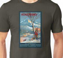 Mount Kosciusko Vintage Travel Poster Restored Unisex T-Shirt