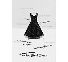 Little Black Dress Photographic Print