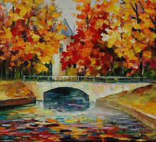 GOLDEN TREES - LEONID AFREMOV by Leonid  Afremov