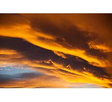 Golden clouds Photographic Print