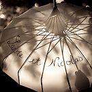 The wedding umbrella by monkeycrumpet