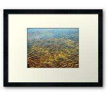 Ripples Above and Below Framed Print