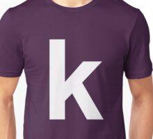 white k Unisex T-Shirt