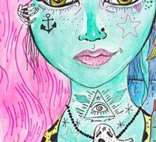 Psychobilly Dead Girl Sticker