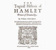 Shakespeare, Hamlet 1603 One Piece - Short Sleeve