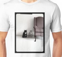 Cat with Chair Unisex T-Shirt