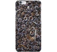 Pine cones on the ground iPhone Case/Skin