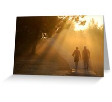 Re Island - Misty Morning. Greeting Card
