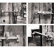 Four Latches Black & White print by Kerto Koppel-Catlin