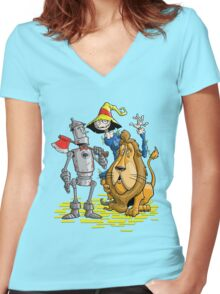 OZ TRIO Women's Fitted V-Neck T-Shirt