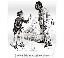 Achille Sirouy Mark Twain Les Aventures de Huck Huckleberry Finn illustration p256 Poster