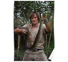 Austin Stevens with Burmese python Poster