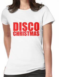Disco Christmas Womens Fitted T-Shirt