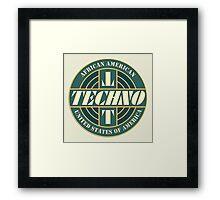 Vintage Techno Music Framed Print